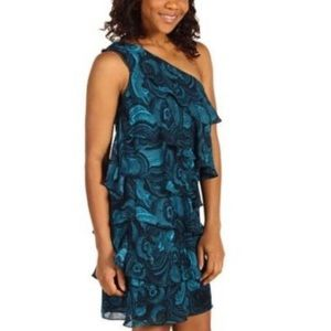 NWT MK  one shoulder ruffle floral dress small